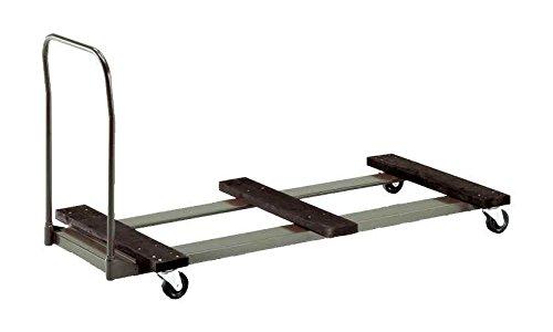 цена на Flat-Stacking Table Cart w Bumper Platform & Handle (72 in.)