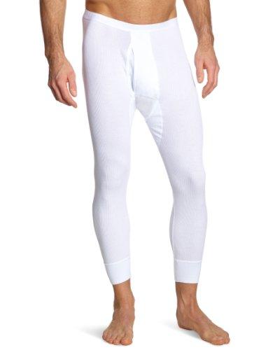 Schiesser Herren Lange Unterhose 005049-100, Gr. 5 (M), Weiß (100-weiss)