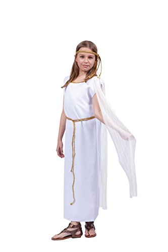 [Athena Child Costume,White, Small Size] (Athena Greek Goddess Costume Child)