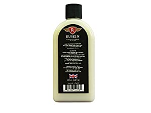 Ruskin Leather Cream - All in One Leather Conditioner and Leather Protector for Leather Interior Care. Best Leather Conditioner for Car Seats, Vehicle Interiors, Motorbikes, Motorhomes, Yachts, RV's & Much More! Solvent Free, 8oz Non Toxic. Powerful Leath
