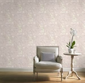Gran Deco Paradise Bird Wallpaper - Pink by New A-Brend