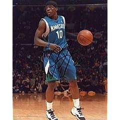 Jonny Flynn Autographed Minnesota Timberwolves Basketball 8x10 Photo - Autographed...