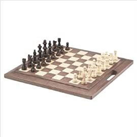 Walnut Chess Set with Handle (Oversized)