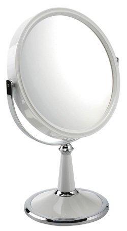 10x Magnification Pedestal Mirror Finish: White