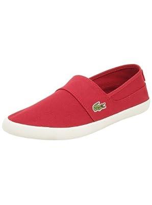 Lacoste Men's Marice LCR Fashion Sneaker, Dark Red, 10 M US