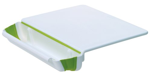 Prepworks from Progressive PCB-3600 11-Inch by 15-Inch Counter Edge Cutting Board with Collapsible Scrap Bin