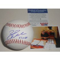 Zack Wheeler New York Mets PSA DNA ROOKIE COA Signed Baseball I Love NY