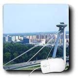 InspirationzStore Photography - Bridge that looks like an alien spaceship UFO flying saucer shooting beams - Bratislava, Slovakia - Mouse Pads