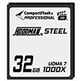 Hoodman RAW Steel Class 7 32GB CompactFlash Card, 1000x High Speed