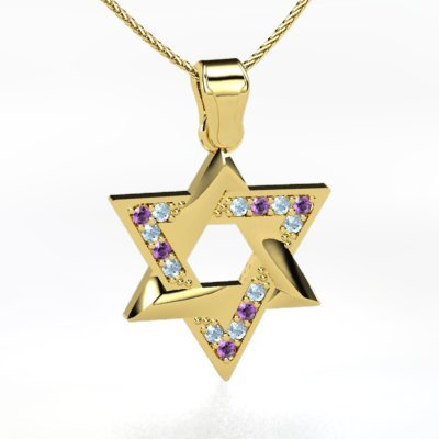 gold star of david necklace. 2011 Star Of David Necklace
