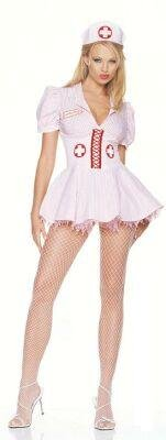 Sexy Candy Striper Nurse Adult Costume Size:Large