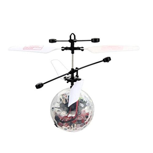 Robiear Infrared Induction Mini Aircraft Flashing Light Remote Flying RC Ball Toys Gift For Kids (Air Suspension Ball Toy compare prices)
