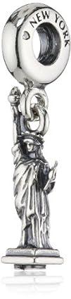 PANDORA Sterling New York Statue of L…