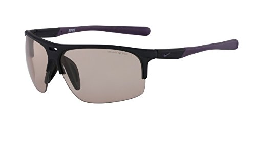 Nike Max Transitions Speed Tint Lens Run X2 S PH Sunglasses, Matte Black/Cave Purple