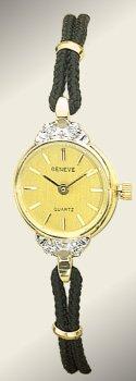 Geneve 14K Gold Diamond Womens Watch - OW246
