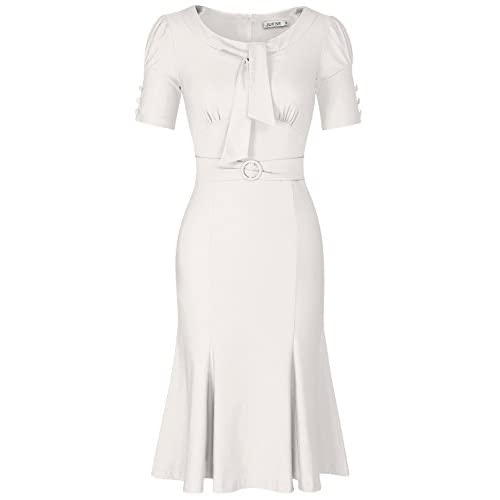 JUESE Women's 50s 60s Formal or Casual Party Pencil Dress