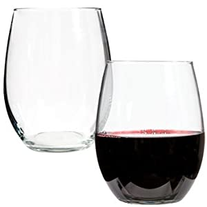Luminarc Stemless Wine Glasses, 21 Oz.