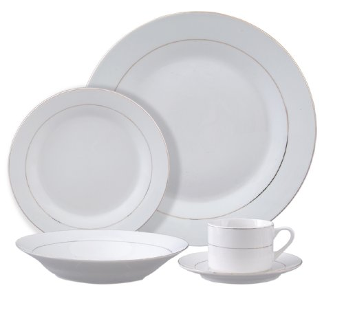 Gibson Tuxedo Gold 20-Piece Fine China Dinnerware Set
