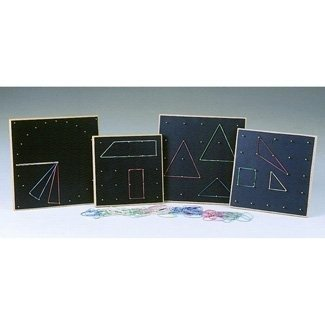 Wooden Geoboard 9 X 9 Single