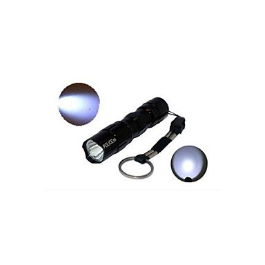 Mch- Hjx-520 3W Police 1-Mode Aluminum Alloy Aa Batteries Portable Led Flashlight (50Lm, 1Xaa, Black)