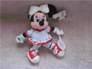 "Disney Tennis Minnie Plush Bean Bag 8"" - 1"