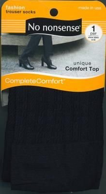 No-Nonsense Cable Trouser Socks Black (3-Pack)