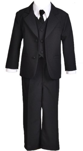 Formal Infant Baby And Toddler Boys Dress Suit (4T, Black) front-867810