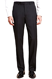 Autograph Flat Front Eveningwear Trousers with Wool