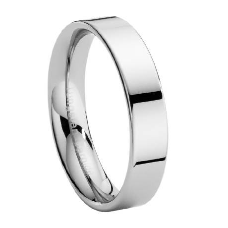 Men'S 6Mm Comfort Fit Classic Tungsten Wedding Ring With Modern Flat Profile And Polished Finish