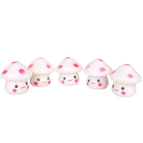 Icibgoods 5Ps Mini Led Colour Changing Mushroom Children'S Toys Night Lamp