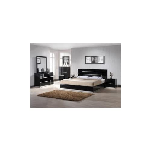 J m furniture lucca black lacquer with for M bedroom furniture