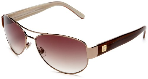 Kate Spade Women'S Flynn Aviator Sunglasses,Almond Frame/Brown Gradient Lens,One Size