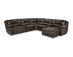 Admirable 7 Simmons 50660 Blackjack Brown Leather Sectional Sofa Home Interior And Landscaping Transignezvosmurscom