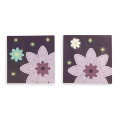 NoJo' Plum Dandy 3-Piece Wall Art - 1
