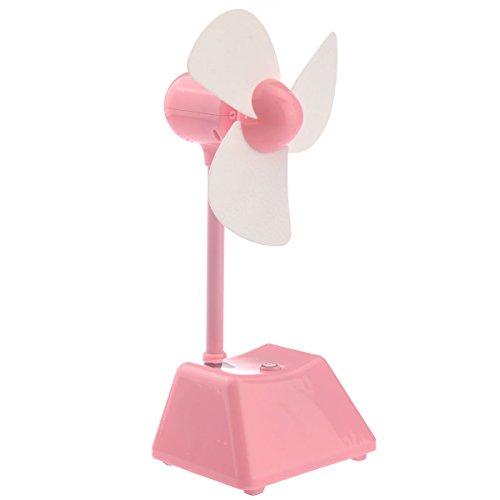 Foxnovo No.012-315 Portable Soft Foam Blades Rechargeable Electric Mini Keypress Desk Fan Cooling Fan (Pink)