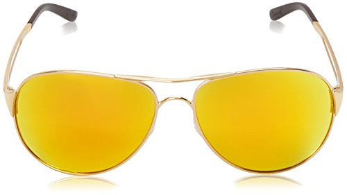 Oakley Women's Caveat Aviator Eyeglasses,Polished Gold/Fire Iridium,60 mm