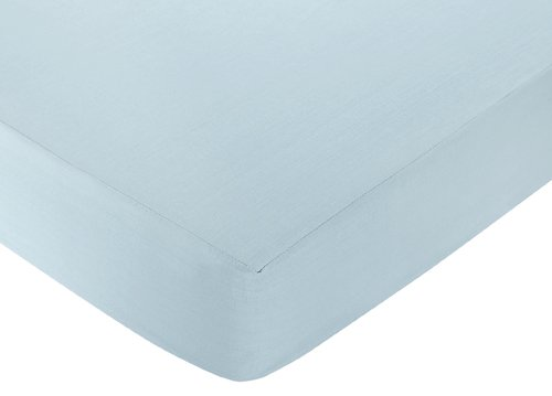 Go Fish Fitted Crib Sheet For Baby And Toddler Bedding Sets By Sweet Jojo Designs - Solid Blue front-30648