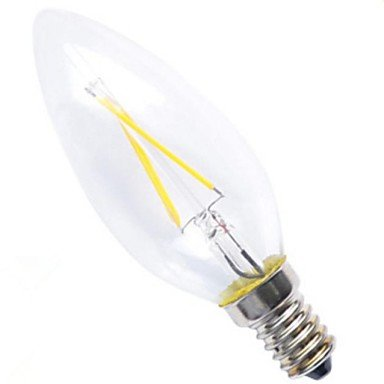 Rayshop - E14 4W 4Xcob Epistar 400Lm 2800-3200K Warm White Candle Bulbs Led Filament Light(Ac 220V)
