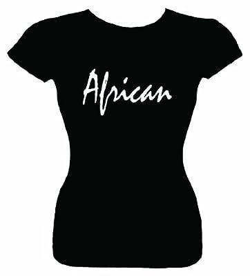 Junior's T-Shirt (AFRICAN) Fitted Girls Shirt