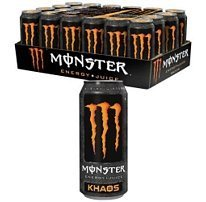 Monster Orange Energy Drink, Monster Khaos Energy, 16 OZ. / 24PK