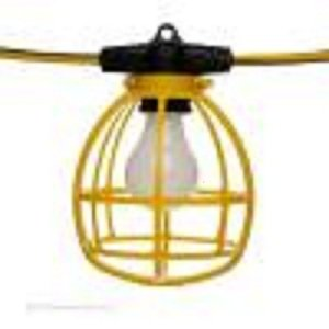 Amazon.com : Utilitech 50 ft. 5-Bulb Construction Lighting String - 5 Light cages Extension ...