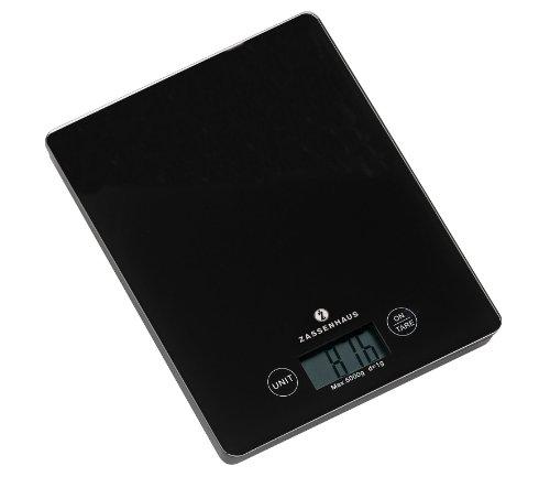 Zassenhaus 073195 Balance de Cuisine Noir 21,5 x 16,5 x 2 cm