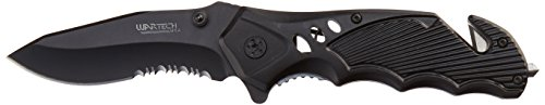 Wartech Tactical Spring Assisted Survival Knife, Black