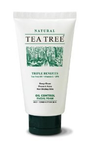 Tea Tree Natural Deep Clean Oil Control Facial Foam Vitamin E Prevent Acne 70G Wholesale Price Made Of Thailand