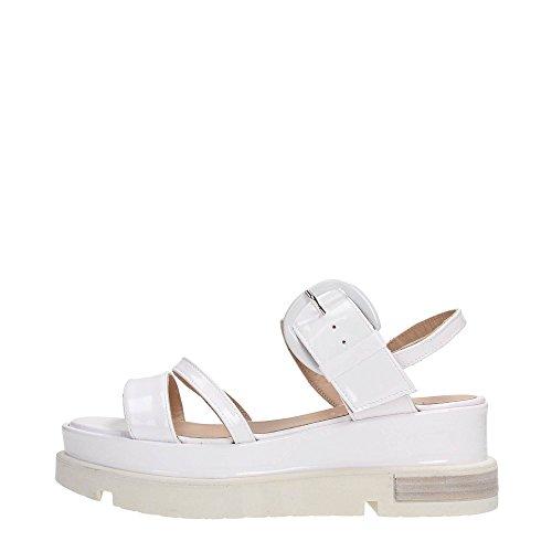 Lea Foscati 161L5155V Sandalo Donna Pelle Bianco Bianco 39