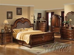 Anondale 6 Piece Brown Cherry Finish Bedroom Set by Acme - 10310
