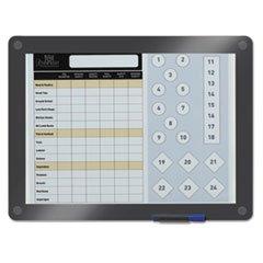 * Clarity Custom Print Glass Dry Erase Board, 13 1/2 x 11, Charcoal Frame