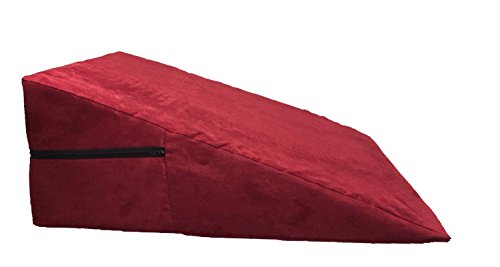 Foam bed wedge positioning pillow insert into a soft microfiber zippered case, by Lilymelotextile (12