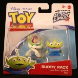 LASER BUZZ LIGHTYEAR & ALIEN Toy Story 3 Buddy Pack DISNEY / PIXAR Mini Figures * 2 Pack * - 1