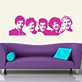 Iconic Stickers - One Direction Celebrity Music Wall Sticker Art Decor Stencil Design Transfer C3 - As Pictured - Size: Medium - Colour: Dark Pink
